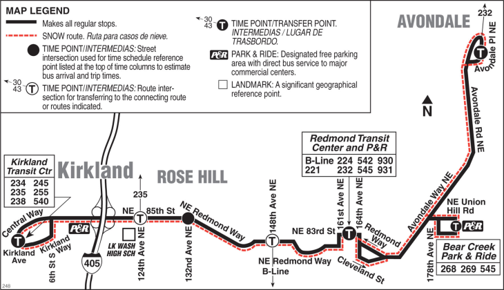 Redmond Routes 545 542 248 And 221 Seattle Greenlake