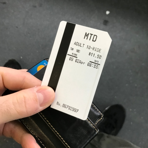 The ten trip ticket I picket up at Albertsons.